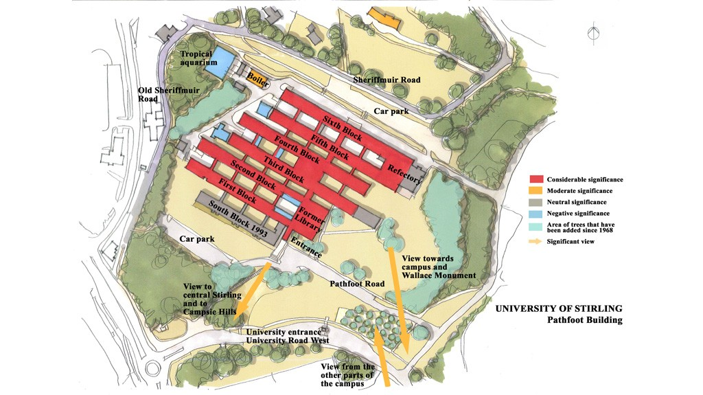 Stirling University Pathfoot Building Map